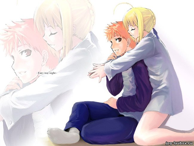 Красивые картинки аниме любовь